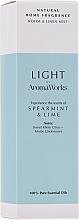 """Voňavky, Parfémy, kozmetika Sprej pre domov """"Mäta a limetka"""" - AromaWorks Light Range Room Mist"""
