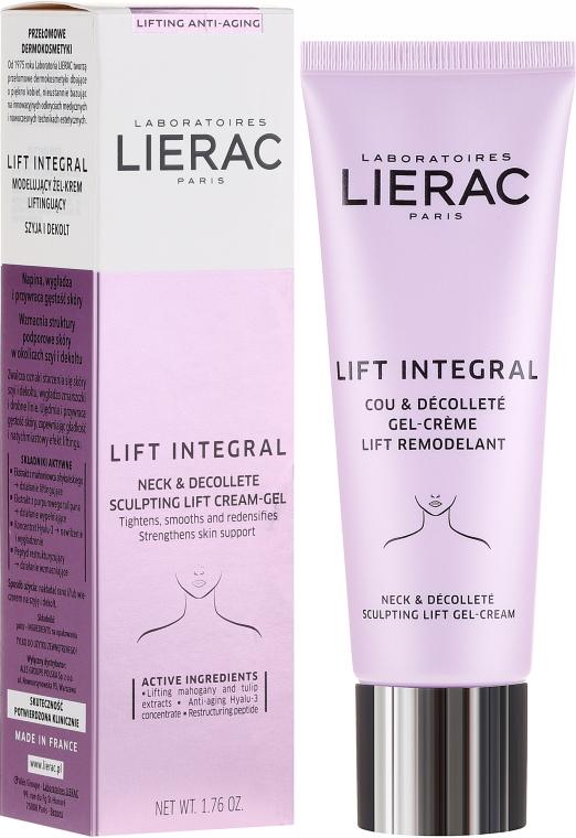 Gélový krém na krk a dekolt - Lierac Lift Integral Neck & Decollete Sculpting Lift Cream-Gel — Obrázky N1