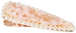 """Voňavky, Parfémy, kozmetika Spona do vlasov """"Ružový kremeň"""" - Crystallove Rose Quartz Hair Clip"""