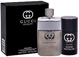 Voňavky, Parfémy, kozmetika Gucci Guilty Eau Pour Homme - Sada (edt/90ml + deo/75ml)