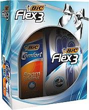 Voňavky, Parfémy, kozmetika Sada - Bic Flex 3 Comfort (razor/4ks + foam/200ml)