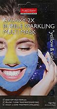 "Voňavky, Parfémy, kozmetika Bahnená penivá multi maska ""Žltá/Modrá"" - Purederm Galaxy 2X Bubble Sparkling Multi Mask"