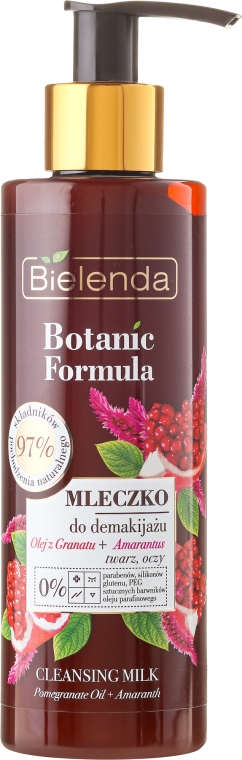 Čistiace mlieko na tvár - Bielenda Botanic Formula Pomegranate Oil + Amaranth Cleansing Milk