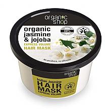 """Voňavky, Parfémy, kozmetika Maska na vlasy """"Indický jasmín"""" - Organic Shop Organic Jasmine and Jojoba Hair Mask"""