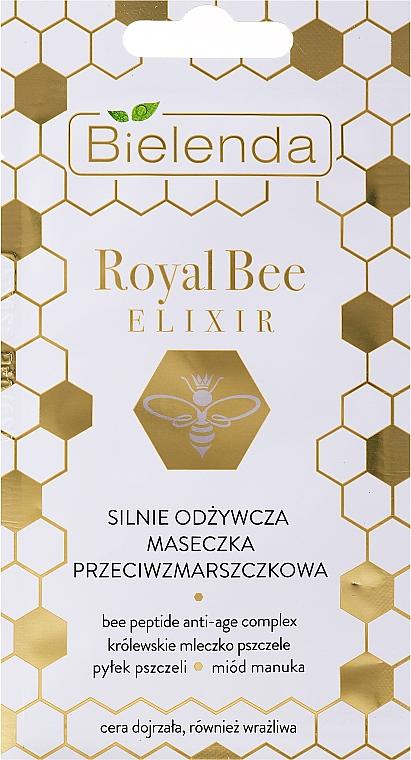 Výživná maska proti vráskam pre suchú, zrelú a citlivú pokožku - Bielenda Royal Bee Elixir — Obrázky N1