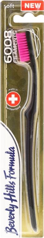 Mäkká zubná kefka, ružová - Beverly Hills Formula 6008 Filament Multi-Colour Toothbrush — Obrázky N1