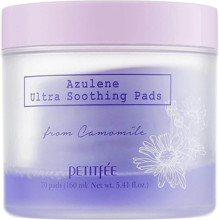 Ultra upokojujúce očné vankúšiky na čistenie na tonizáciu - Petitfee&Koelf Azulene Ultra Soothing Pads — Obrázky N2