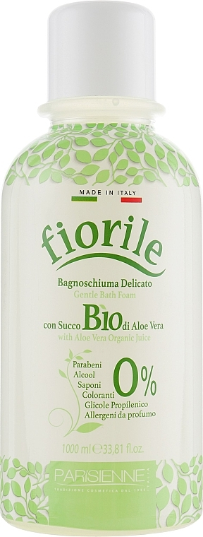 "Pena do kúpeľa ""Aloe Vera"" - Parisienne Italia Fiorile BIO Aloe Vera Bath Foam"
