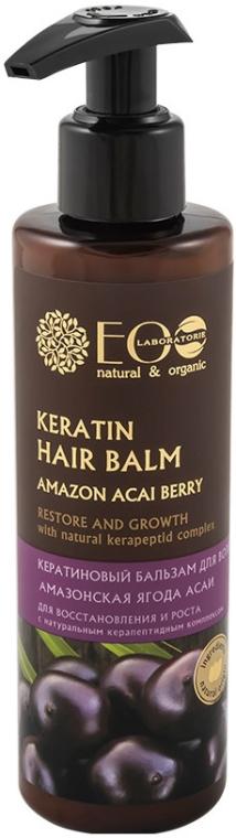 Keratický balzam na obnovu a rast vlasov - ECO Laboratorie Keratin Hair Balm Amazon Acai Berry