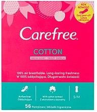 Voňavky, Parfémy, kozmetika Hygienické každodenné vložky s vôňou sviežosti, 56 ks - Carefree Cotton Fresh
