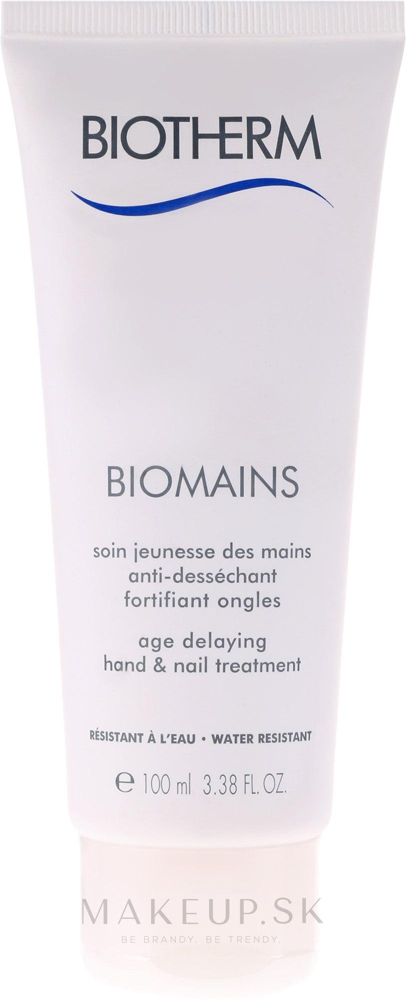 Krém na ruky - Biotherm Biomains Age Delaying Hand & Nail Treatment — Obrázky 100 ml