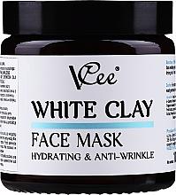 Voňavky, Parfémy, kozmetika Maska na tvár s bielou hlinou - VCee White Clay Face Mask Hidrating&Anti-Wrinkle