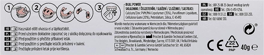 Fixačný krém na zubnú protézu - Blend-A-Dent Premium Adhesive Cream Plus Dual Power Light Mint — Obrázky N3