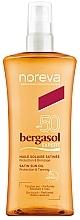 Voňavky, Parfémy, kozmetika Opaľovací telový krém - Noreva Laboratoires Bergasol Sublim Satiny Sun Oil SPF50