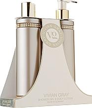 Voňavky, Parfémy, kozmetika Sada - Vivian Gray Brown Crystals Set (sh/gel/250ml + b/lot/250ml)