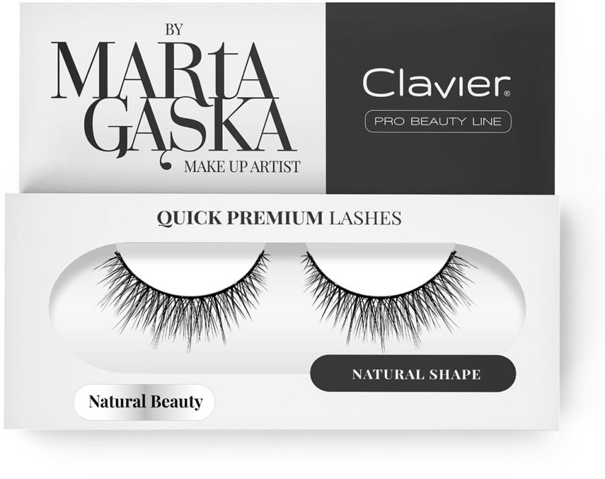 Falošné mihalnice - Clavier Quick Premium Lashes Natural Beauty 827
