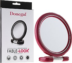 Voňavky, Parfémy, kozmetika Obojstranné zrkadlo na stojane, 12 cm, 9504, ružové - Donegal Mirror
