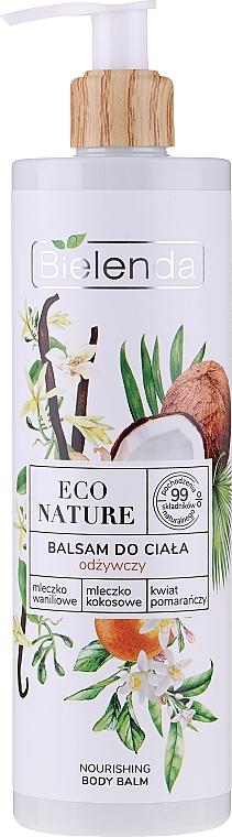Výživné telové mlieko - Bielenda Eco Nature Vanilla Milk, Coconut Milk, Orange Blossom Nourishing Body Lotion