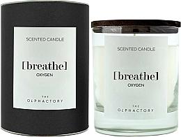 Voňavky, Parfémy, kozmetika Vonná sviečka - Ambientair The Olphactory Black Design Breathe Oxygen