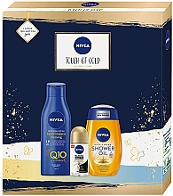 Voňavky, Parfémy, kozmetika Sada - Nivea Touch of Gold Set (sh/oil/200ml + b/lot/250ml + deo/50ml)