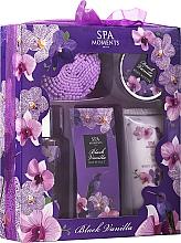 Voňavky, Parfémy, kozmetika Sada - Spa Moments Black Vanilla (sh/gel/100ml+b/lot/60ml+oil/50+salf/50+sh/sponge)