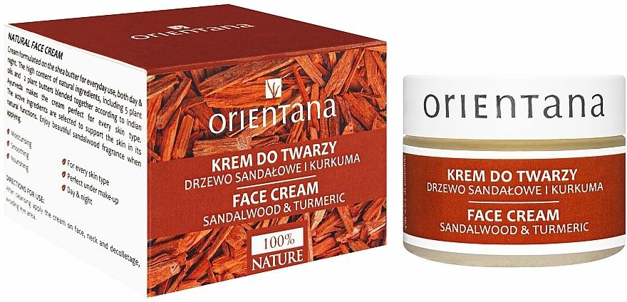 """Krém na tvár """"Santalové drevo a kurkuma"""" - Orientana Face Cream Sandalwood & Turmeric"""