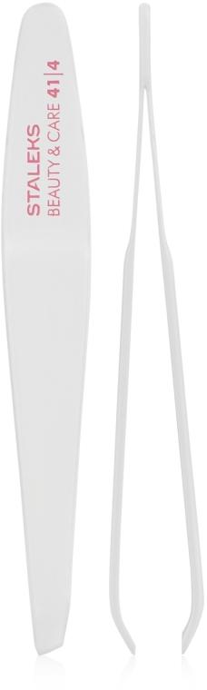 Pinzeta na obočie s úzkymi skosenými hranami, TBC-41/4 - Staleks Beauty & Care 41 Type 4