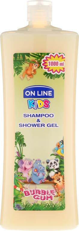 """Šampónový sprchový gél """"Žuvačka"""" - On Line Kids Shampoo & Body Wash Bubble Gum"""