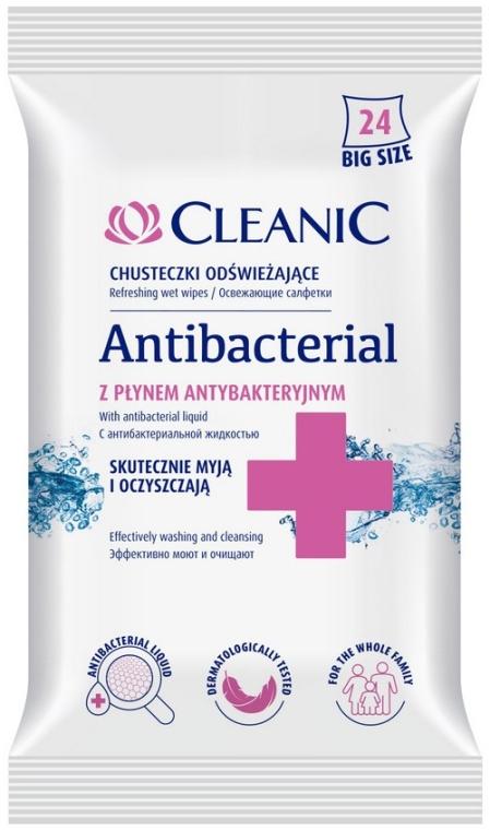 Antibakteriálne utierky, 24 ks - Cleanic Antibacterial Wipes