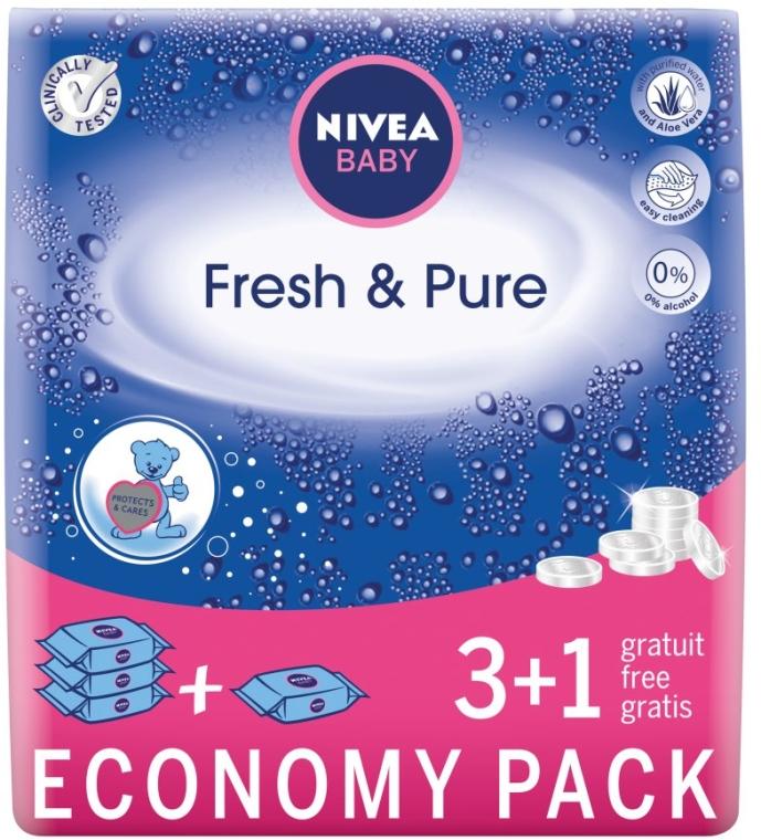 """Vlhké utierky detské """"Čistota a čerstvosť"""" 4x63 ks - Nivea Baby Pure & Fresh"""