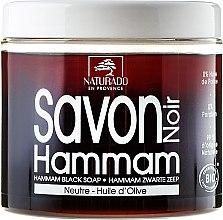 Voňavky, Parfémy, kozmetika Čierny olivový olej mydlo - Naturado Black Soap Hammam With Olive Oil