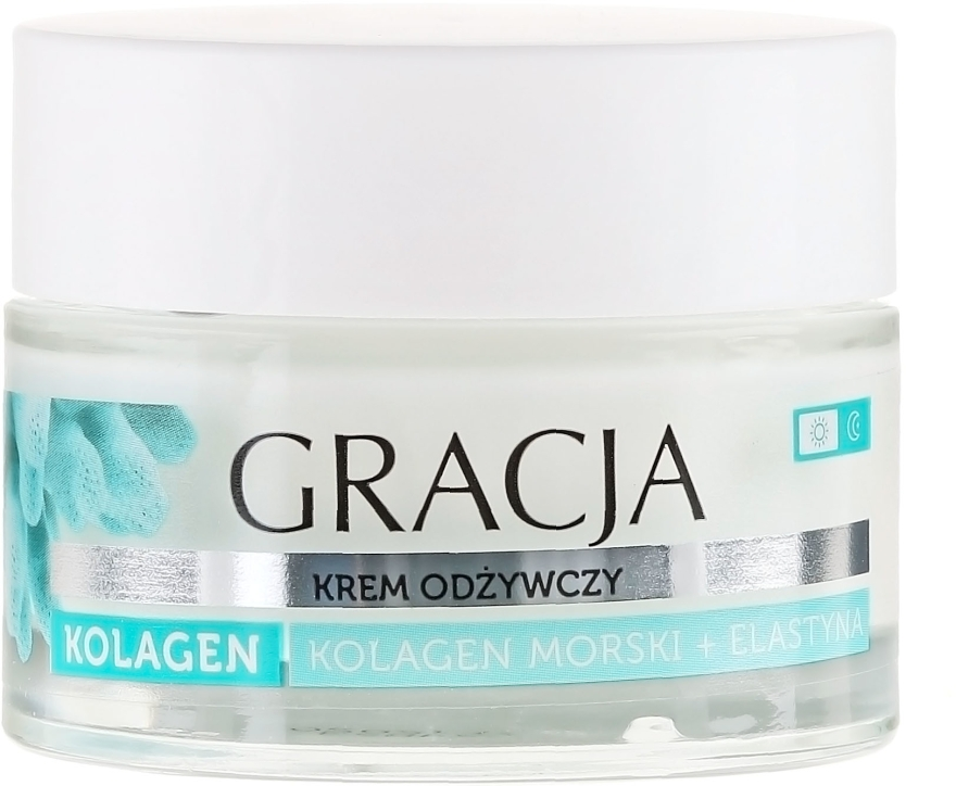 Výživný krém proti vráskam s morským kolagénom a elastínom - Gracja Sea Collagen And Elastin Anti-Wrinkle Day/Night Cream