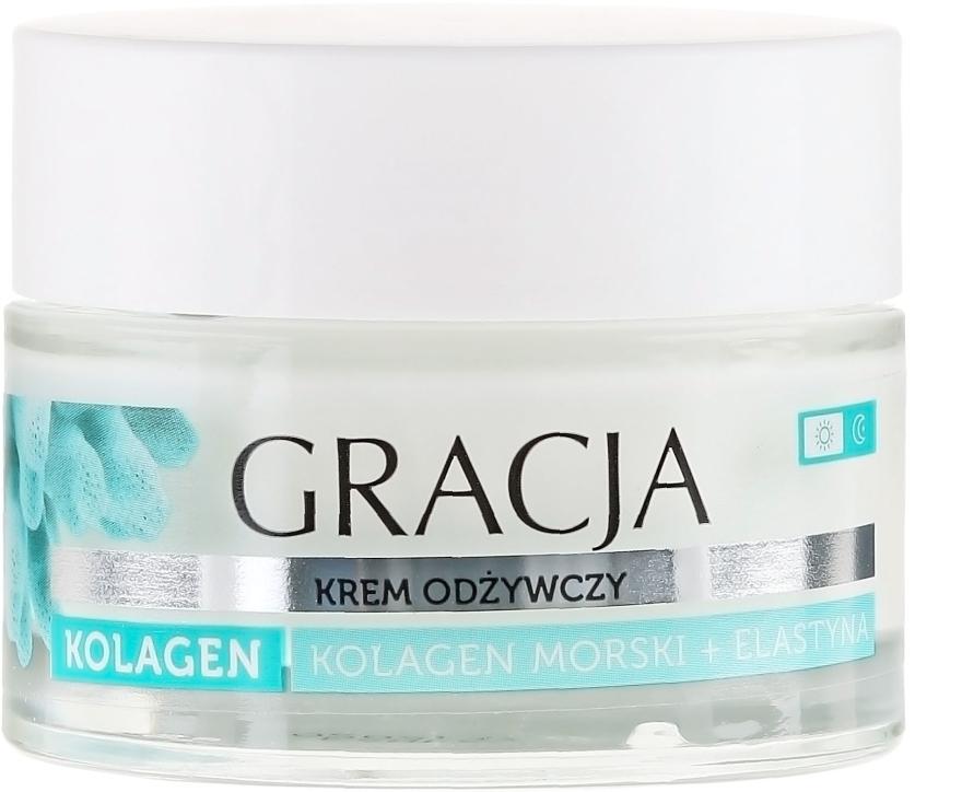 Výživný krém proti vráskam s morským kolagénom a elastínom - Gracja Sea Collagen And Elastin Anti-Wrinkle Day/Night Cream