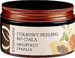 """Voňavky, Parfémy, kozmetika Cukrový peeling na telo """"Grapefruit a papája"""" - Bosphaera"""