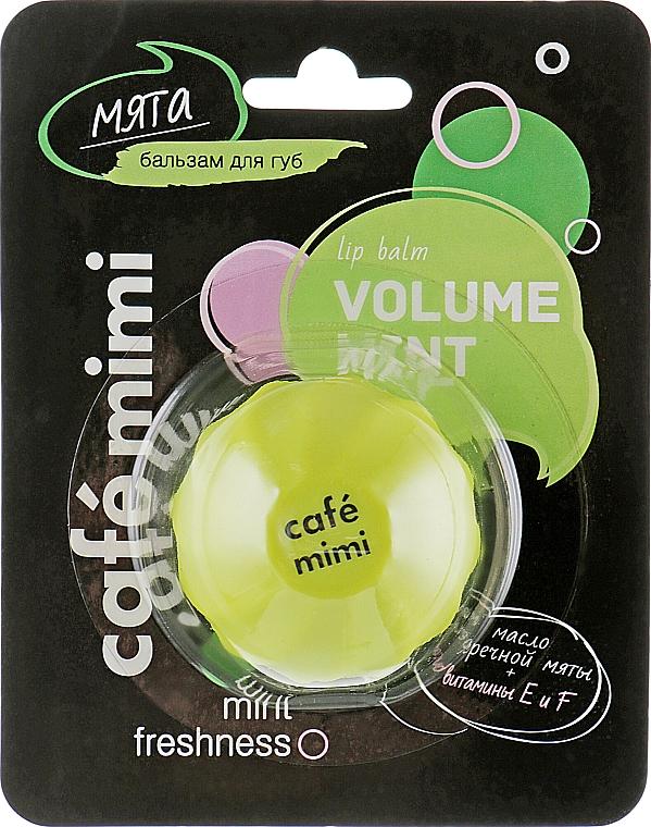 "Balzam na pery ""Mäta"" - Cafe Mimi Lip Balm Volume Mint"