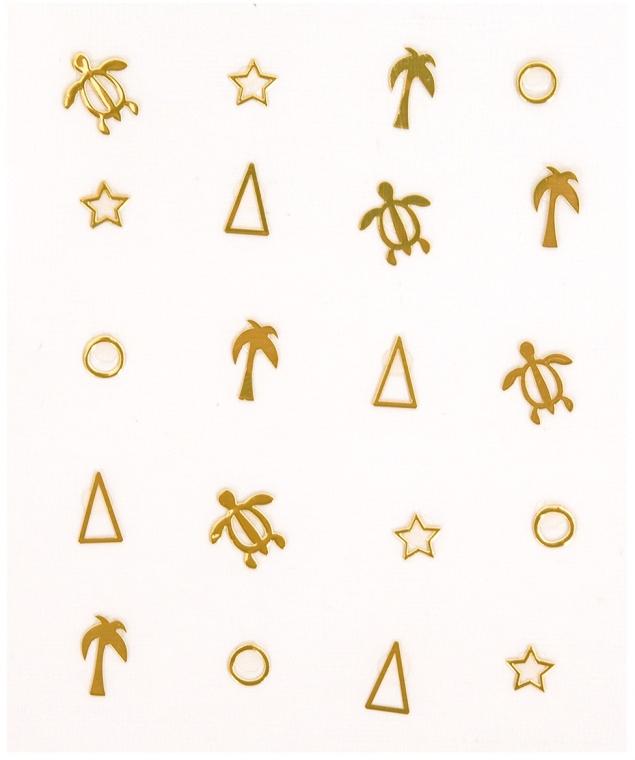 Ozdobné nálepky na nechty - Peggy Sage Decorative Metallic Nail Stickers