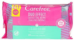 Voňavky, Parfémy, kozmetika Vlhčené obrúsky, 40 ks - Carefree Intimate Aloe Vera Wet Wipes