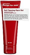 Voňavky, Parfémy, kozmetika Gél na samoopaľovanie - Recipe For Men Self Tanning Face Gel