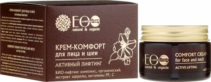 "Krém-komfort pre tvár a krk ""Aktívny lifting"" - ECO Laboratorie Face Cream"