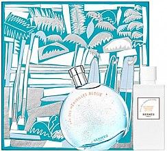 Voňavky, Parfémy, kozmetika Hermes Eau des Merveilles Bleue - Sada (edt/100ml + b/lot/80ml)