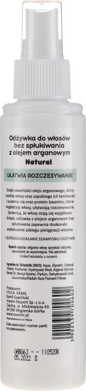 Kondicionér na vlasy - Nacomi No-Rinse With Moroccan Argan Oil Conditioner — Obrázky N2