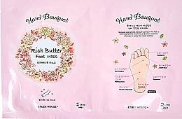Voňavky, Parfémy, kozmetika Maska na nohy s bambuckým maslom - Etude House Hand Bouquet Rich Butter Foot Mask