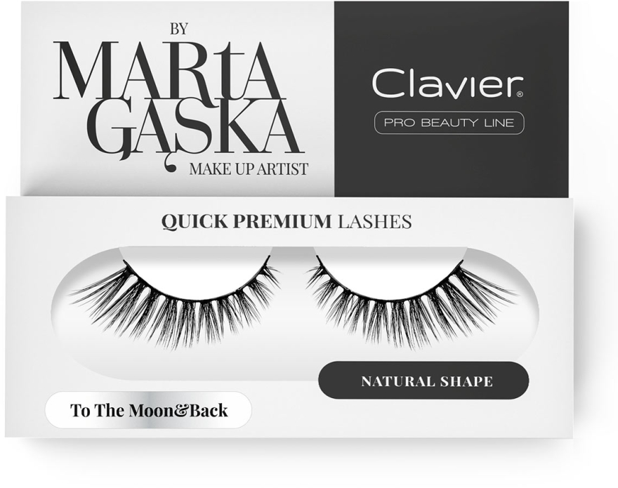 Falošné mihalnice - Clavier Quick Premium Lashes To The Moon&Back 801