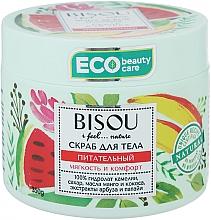 """Voňavky, Parfémy, kozmetika Scrub na telo """"Výživný"""" s extraktom melónu a manga - Bisou I feel... Nature Nourishing Body Scrub"""