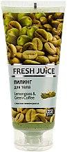 """Voňavky, Parfémy, kozmetika Telový peeling """"Lemongrass a zelená káva"""" - Fresh Juice Lemongrass Green Coffee"""