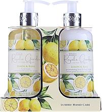 Voňavky, Parfémy, kozmetika Sada - Baylis & Harding Royale Garden Lemon & Basil (l/soap/300ml + b/lot/300ml)