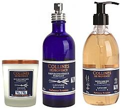 Voňavky, Parfémy, kozmetika Sada - Collines De Provence Natural Lavender (soap/300ml + candle/180g + spray/100ml)