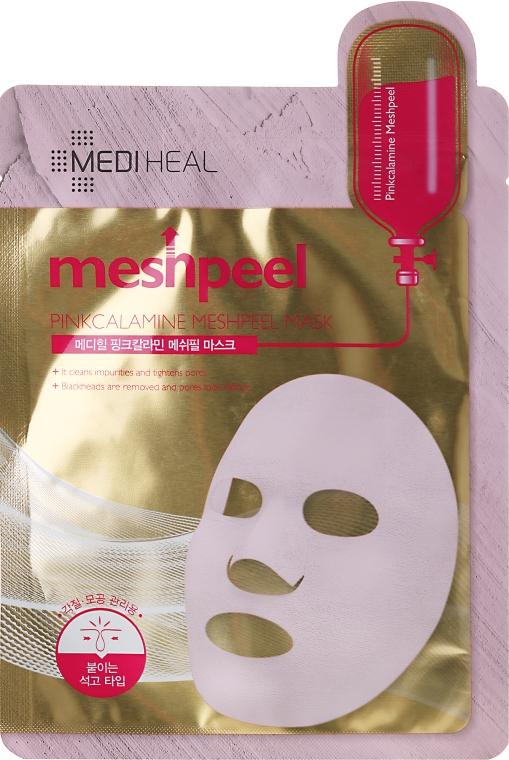 Maska na tvár s ružovou hlinou - Mediheal Meshpeel Mask Pink Calamine