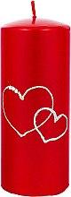 Voňavky, Parfémy, kozmetika Dekoratívna sviečka červená, 7x17cm - Artman Forever