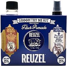 Voňavky, Parfémy, kozmetika Sada - Reuzel Fiber Try Me Kit (h/pomade/35g + h/spray/100ml + shm/100ml)